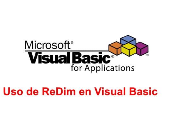 Uso de ReDim en Visual Basic