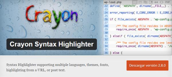 plugin crayon syntax highlighter wordpress