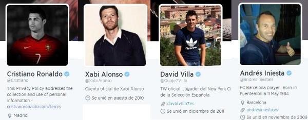 Jugadores de Futbol Redes Sociales y Publicidad